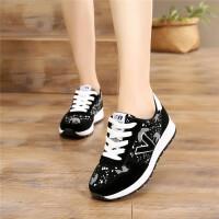 运动鞋女韩版学生百搭跑步休闲鞋新款秋冬季轻便软底加绒女鞋子潮