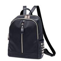双肩包女韩版大容量旅行包时尚书包帆布背包 黑色