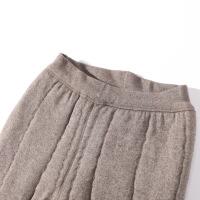 2019新款棉裤女冬加绒中老年人加厚高腰保暖裤外穿驼绒棉裤宽松大码 驼色