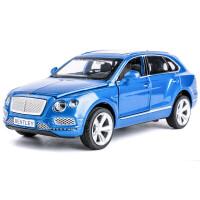 吉普车合金车模 仿真汽车模型玩具车车模型摆件小汽车 宾利 添越 蓝宝石 (散装)