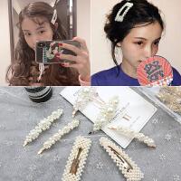 珍珠发夹女ins网红韩国刘海发卡bb夹子边夹少女头饰