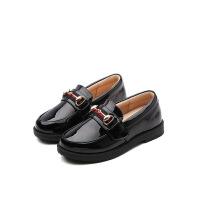 2018春秋新款女童皮鞋韩版黑色休闲鞋平底学生儿童单鞋 黑色
