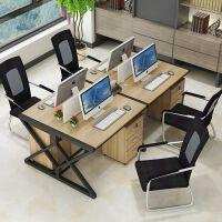 办公家具职员办公桌椅组合 屏风工作位职员办公桌简约现代4/6人位办公家具电脑桌椅组合工作位屏风隔断