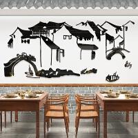 饭店装饰品墙壁画餐馆酒楼农家乐中式餐厅墙贴画创意个性包厢贴纸