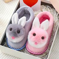 儿童包跟拖鞋冬男女童室内防滑居家宝宝小孩1-3岁亲子棉拖鞋