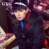 【GXG过年不打烊】GXG男装 冬季男士修身时尚黑色羽绒服夹克外套潮#64811025