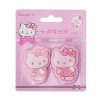 广博(GuangBo)2块装卡通美术考试橡皮擦学生文具凯蒂猫Hello kitty KT86074当当自营