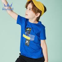 【3.5折价:48.65元】souhait水孩儿童装夏季新款圆领衫儿童T恤短袖T恤印花圆领衫SHNXBD15CT655