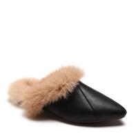 毛毛鞋尖头平跟chic女包头外穿懒人半拖鞋ins2018秋冬季新款韩版