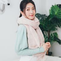 围巾女秋冬季韩版长款百搭格子披肩女日系小清新少女围脖