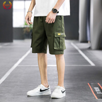 MPF 短裤男工装裤夏季薄款男裤潮五分裤学生韩版宽松直筒裤休闲裤