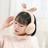 冬季保暖耳罩女学生耳包汉堡毛绒可爱耳暖可折叠耳捂后戴护耳耳套