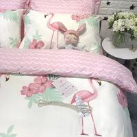 全棉卡通简约儿童单人床三件套1.2米床上用品纯棉被套床笠四件套