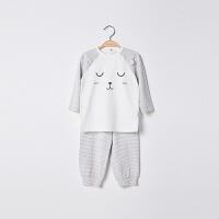 【2件3折 到手价:32】初纺2019夏季新品 婴幼儿宝宝中性内穿可爱套装