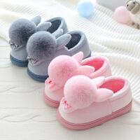 儿童棉拖鞋秋冬居家室内防滑厚底拖鞋保暖加厚亲子毛拖小孩拖鞋女