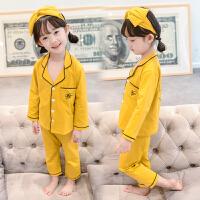 女童睡衣春秋季长袖小童套装儿童家居服童装