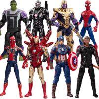 复仇者联盟3钢铁侠蜘蛛侠美国队长黑豹手办带发光底座可动模型摆件玩具钢铁蜘蛛侠
