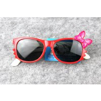 女童公主太阳镜儿童蝴蝶结软硅胶眼镜
