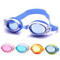 儿童泳镜 盒装硅胶 防雾游泳镜 男女通用防水防雾游泳镜