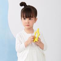 【秒杀价:129元】马拉丁童装女小童毛衣2020春夏新款舒适柔软百搭白色针织开衫