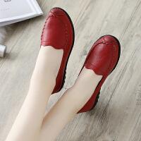 妈妈鞋软底舒适单鞋秋季中老年人女鞋奶奶防滑平底中年老鞋夏