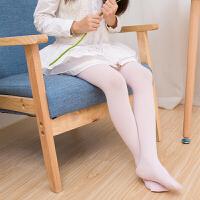 儿童连裤袜薄款女童打底裤白色舞蹈袜宝宝袜防勾丝