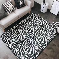 潮牌加厚法兰绒可爱地垫毛毯宿舍沙发瑜伽垫客厅茶几卧室床边地毯y 乳白色 斑马