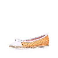 【 立减120】卡迪娜 休闲白搭尖头内增高镂空拼接渔夫鞋女单鞋 KS60703