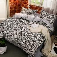 水晶绒珊瑚绒四件套简约学生宿舍床上三件套棉加厚床单被套k