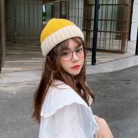 针织毛线帽子女秋冬季头套韩版冬天保暖百搭瓜皮地主帽冷帽潮
