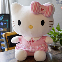 哈�Dkt�P蒂�hello kitty娃娃抱枕公仔毛�q玩具超大�玩偶keiti�