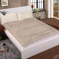 单人可折叠床垫榻榻米加厚褥子双人1.5m床学生宿舍毛绒垫被地铺垫