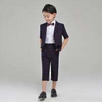 男童小西装春钢琴演出服男童西服儿童西装三件套装婚礼花童礼服