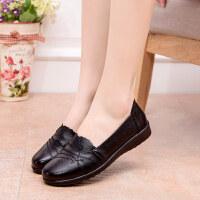 妈妈鞋软底单鞋中老年女鞋奶奶防滑舒适平底跟中年老鞋秋