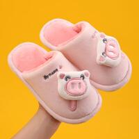 儿童棉拖鞋女童男童秋冬季室内家居卡通可爱新款亲子保暖拖鞋宝宝