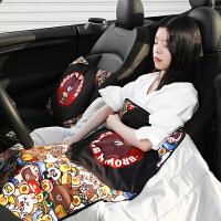 抱枕被子两用汽车抱枕靠枕可爱创意车载靠垫汽车内饰用品抱枕