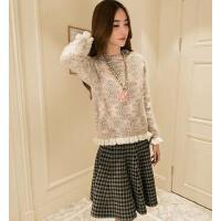 个性时尚女士宽松两件套时尚套装连衣裙女韩版甜美毛衣针织衫套裙