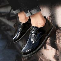 工装靴男英伦大头马丁靴短靴子百搭亮面皮鞋男士皮靴