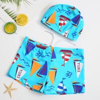 儿童泳裤男童平角游泳裤宝宝婴儿可爱泳衣带帽