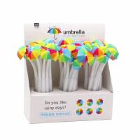 可奇彩虹雨伞中性笔ins风网红创意七色花软胶造型中性笔顺滑好用