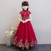儿童公主裙蓬蓬纱女童晚礼服花童婚纱演出服