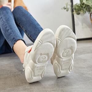 小熊鞋女ZHR2019春季新款小白鞋智熏鞋超火网红老爹鞋正品女鞋子