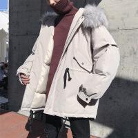 冬装港风chic棉衣大毛领外套男学生韩版潮流宽松加厚保暖棉袄
