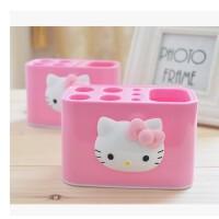 日照鑫 新凯蒂猫HELLO KITTY 卡通牙刷座可爱牙膏架卫浴洗漱收纳盒置物盒(一个装)