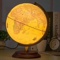 25cm美式复古地球仪台灯 32cm大号书房办公桌面摆件装饰礼品