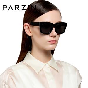 帕森时尚女士偏光太阳镜 潮人男士司机开车驾驶镜大方框墨镜9611