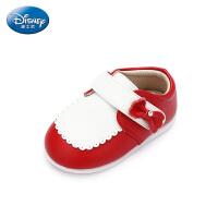 【119元任选2双】迪士尼Disney童鞋18新款女童宝宝鞋蝴蝶结时装皮鞋婴幼童休闲学步鞋 (0-4岁可选) DH01