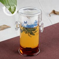 陶瓷玻璃红茶茶具双耳玻璃茶壶泡茶器功夫茶具套组
