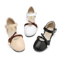 【199元任选2双】百丽Belle童鞋19新款儿童时装鞋女童皮鞋秀气端庄凉鞋(5-13岁可选)DE0916