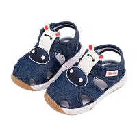 男宝宝鞋子0-1-3岁2婴儿春秋防滑软底凉鞋不掉婴儿小童女学步鞋